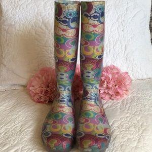 Poppy Coach Rain Boots
